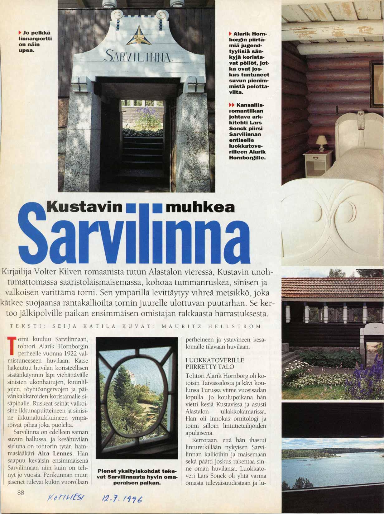Kotiliesi 12.7.1996 s. 1