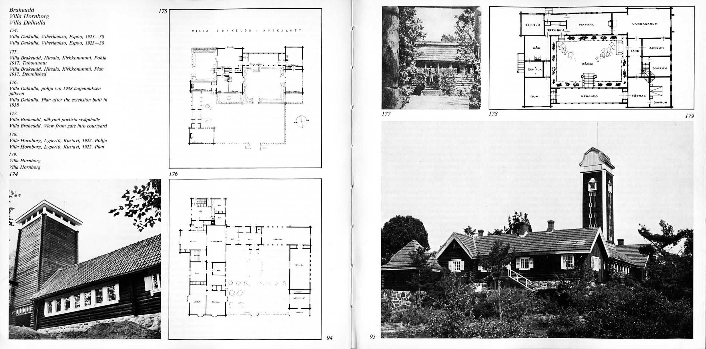 Schematics of Villa Dalkulla and Villa Hornborg