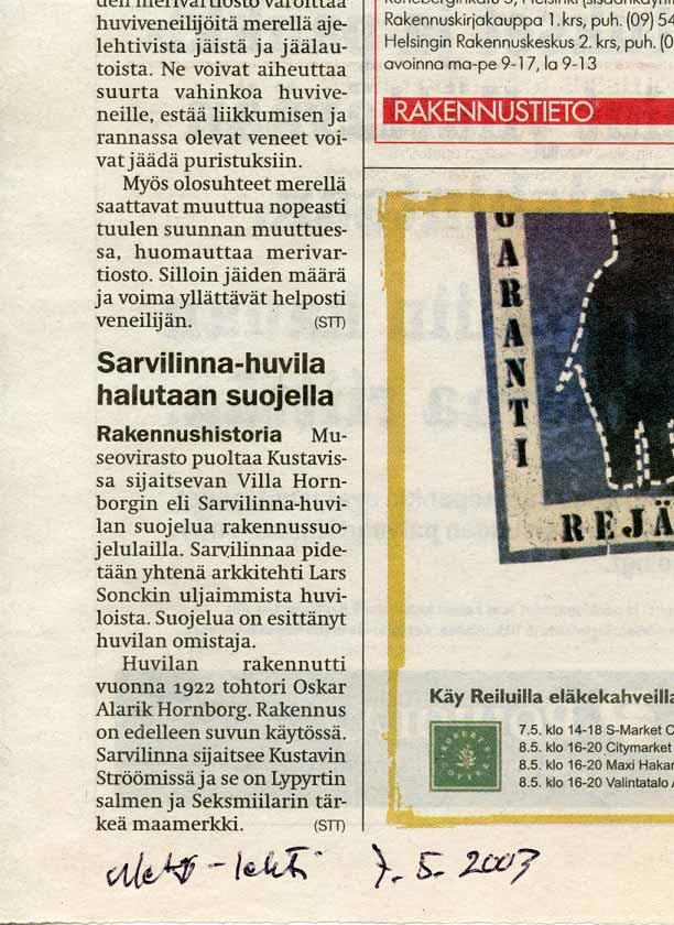Metro-lehti 7.5.2003