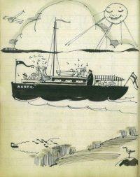 Illustrationer från loggboken