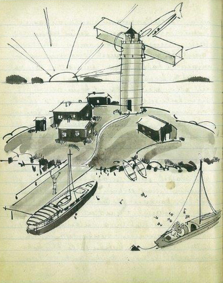 Illustrations of the logbook
