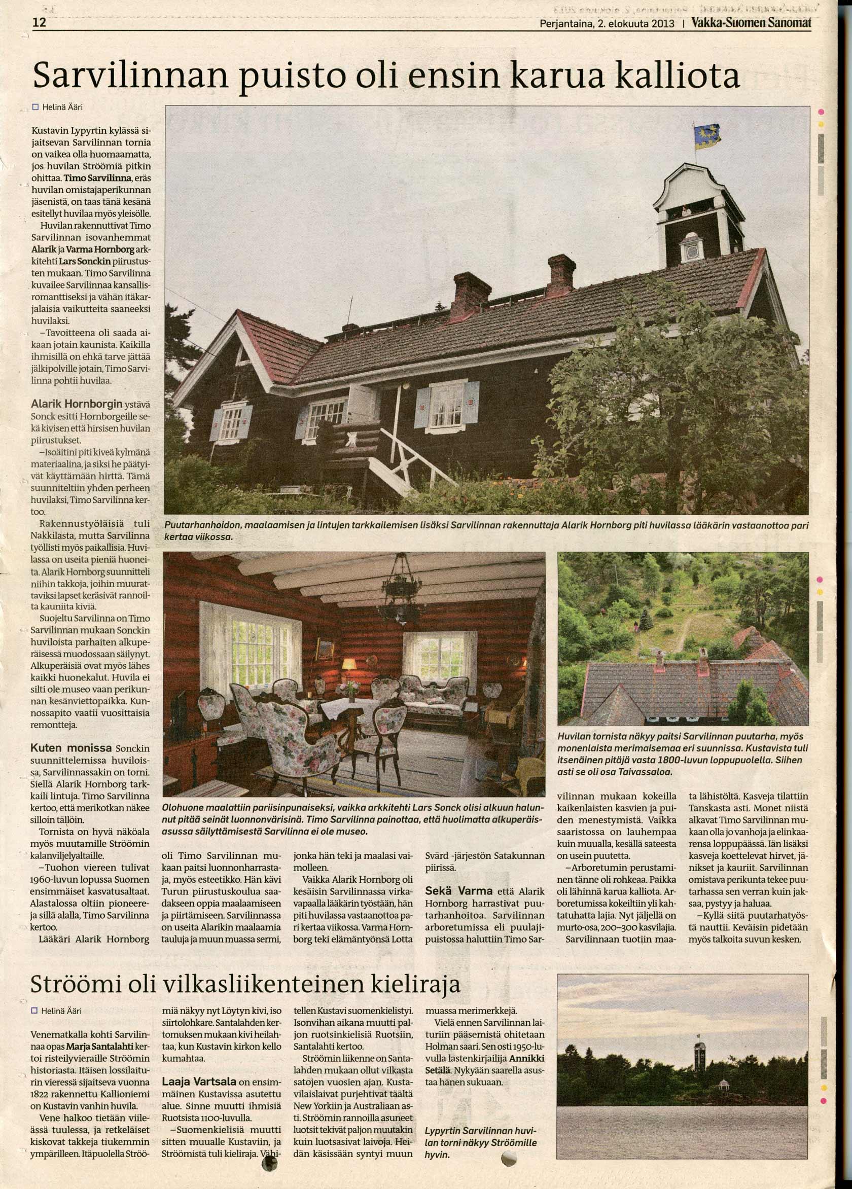Vakka-Suomen Sanomat 2.8.2013