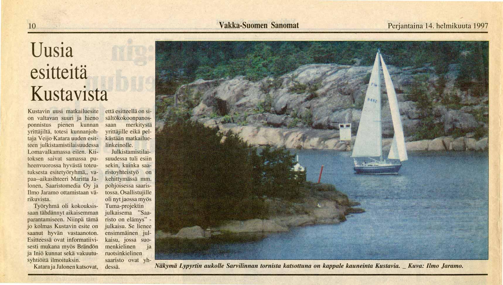 Vakka-Suomen Sanomat 14.2.1997
