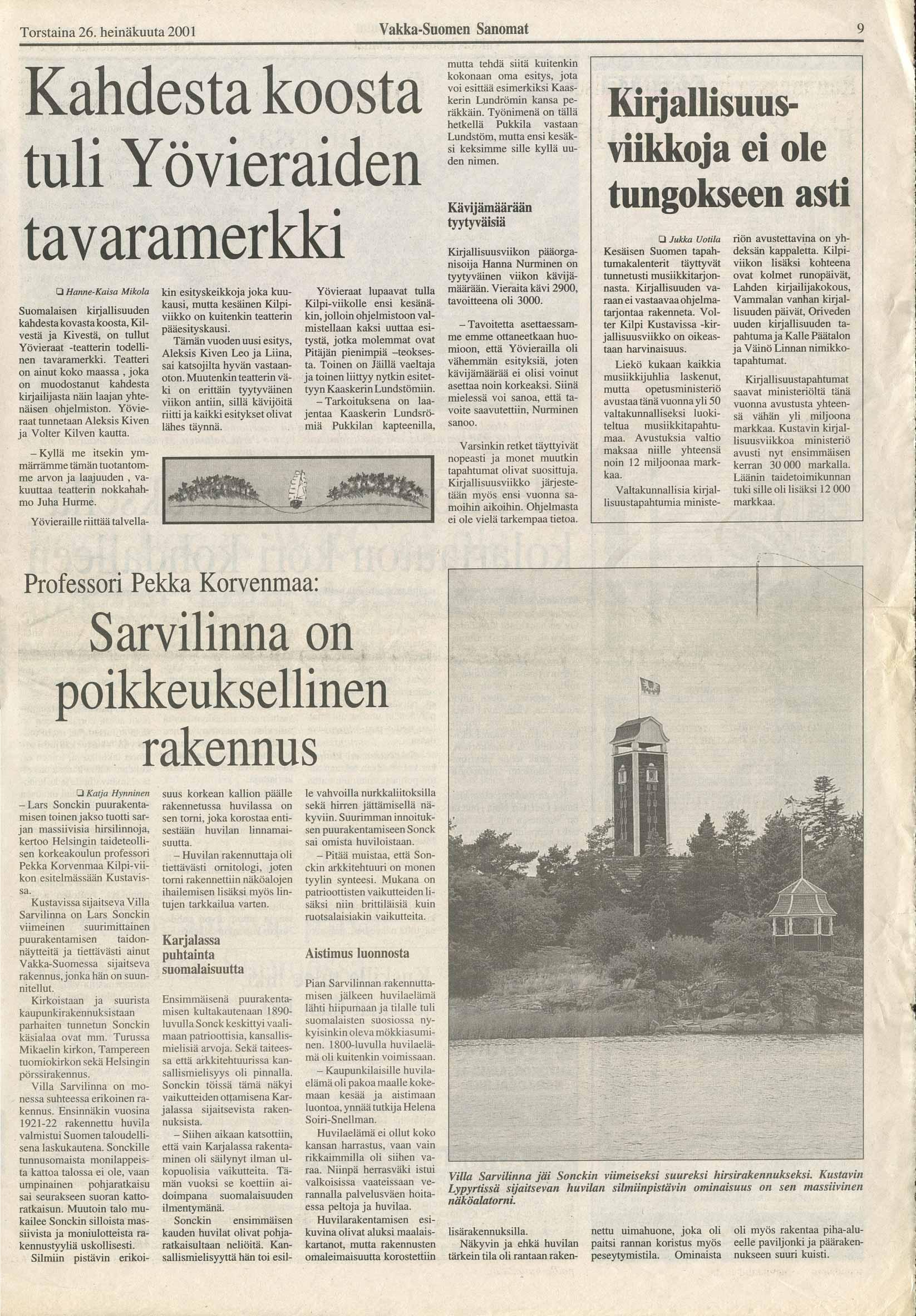 Vakka-Suomen Sanomat 260701