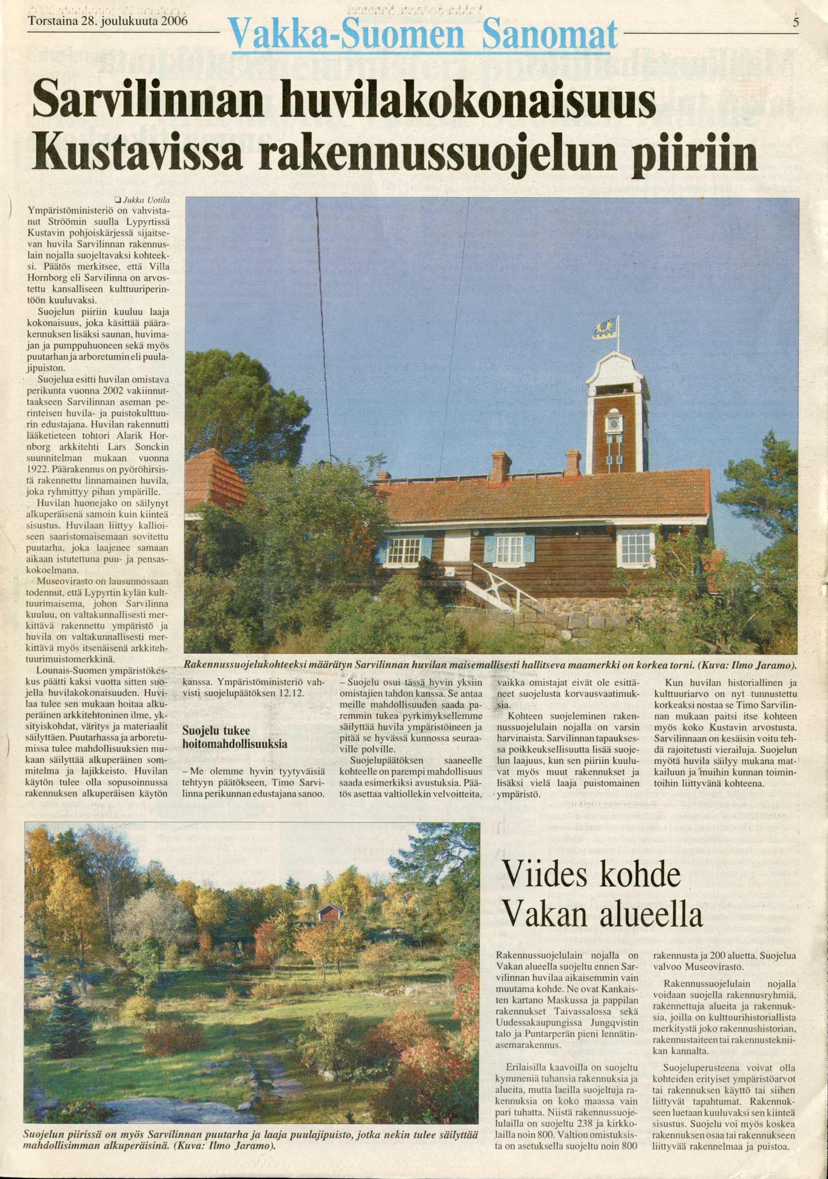 Vakka-Suomen Sanomat 28.12.2006