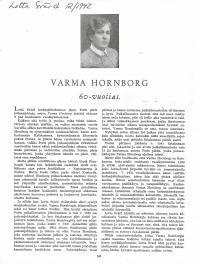 Varma Hornborg 60-vuotias